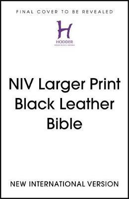NIV Larger Print Black Leather Bible by New International Version image