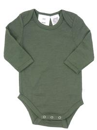 Babu: Merino Long Sleeve Body Suit - Khaki (2 Years) image