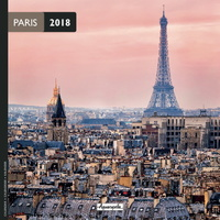 Paris 2018 Mini Wall Calendar