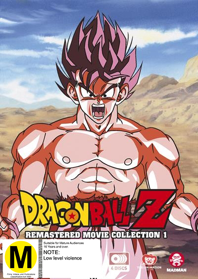 Dragon Ball Z: Remastered Movie Collection 1 (uncut) (Movies 1-6 + Specials) on DVD