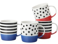 Casa Domani Colour Block Mug Set of 4 (350ML)
