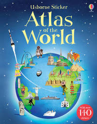 Sticker Atlas of the World by Alice Pearcey
