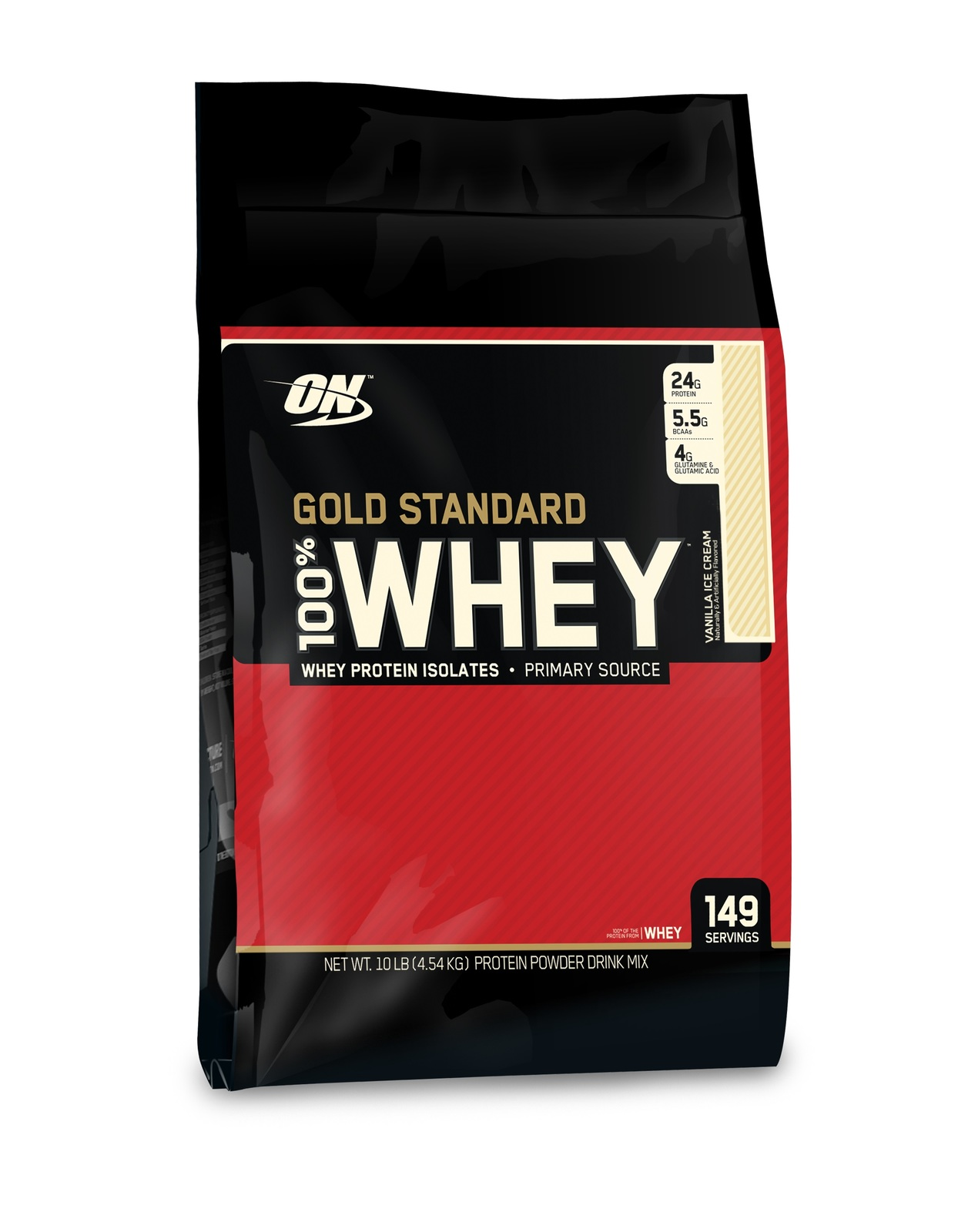 Optimum Nutrition Gold Standard 100% Whey - Vanilla Ice Cream (4.55kg) image