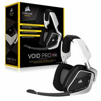 Corsair Void PRO RGB USB Wired Gaming Headset (White) for PC image