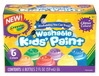 Crayola: Washable Glitter Paint Pack - 6 Colours