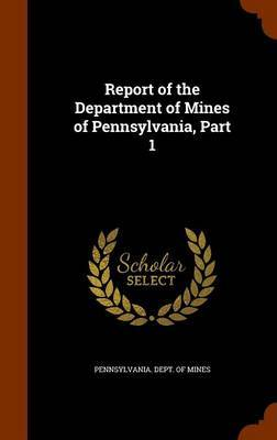 Report of the Department of Mines of Pennsylvania, Part 1 image