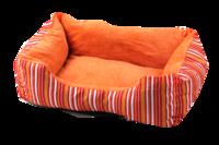 Pawise: Dog Bed Cuddler - Orange Strip