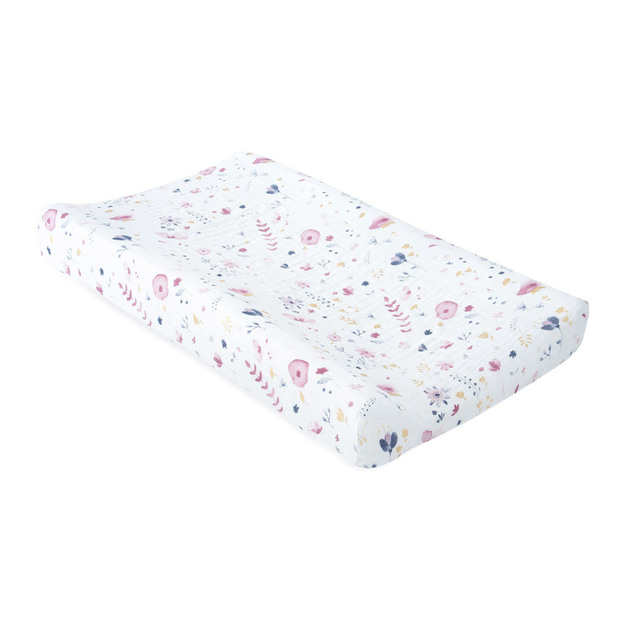 Little Unicorn: Muslin Changing Pad Cover - Fairy Garden