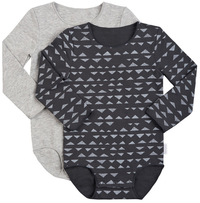 Bonds Long Sleeve Bodysuit 2 Pack - Multi Colour (0-3 Months)