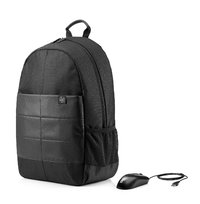 HP - 15.6 Classic Backpack & Mouse (Black)