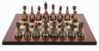 """Dal Rossi: Staunton Green/Copper - 16"""" Chess Board (Antique Finish)"""