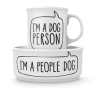 Fred Dog Person - Bowl and Mug Set