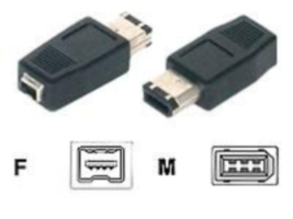 Digitus Firewire Adapter 6 Pin (M) to 4 Pin (F)