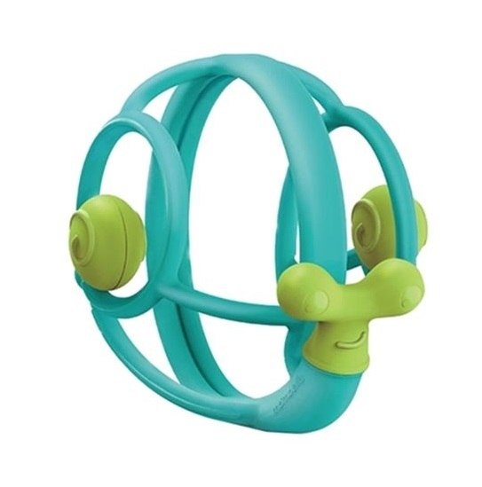 Mombella: Snail Teether Rattle - Blue