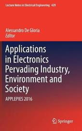 Applications in Electronics Pervading Industry, Environment and Society image
