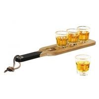 Gentlemen's Hardware Serving Paddle & Shot Glasses