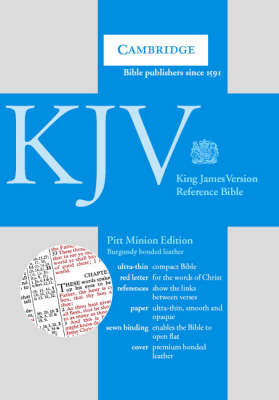 KJV Pitt Minion Reference Edition, R182 Burgundy Bonded Leather: KJV Pitt Minion Reference Edition, R182 Burgundy Bonded Leather image