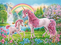 Ravensburger : Magical Unicorns Puzzle 100pc