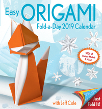 Easy Origami Fold-a-Day 2019 Day-to-Day Activity Calendar by Jeff Cole