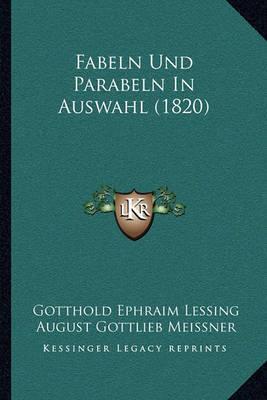 Fabeln Und Parabeln in Auswahl (1820) by August Gottlieb Meissner image