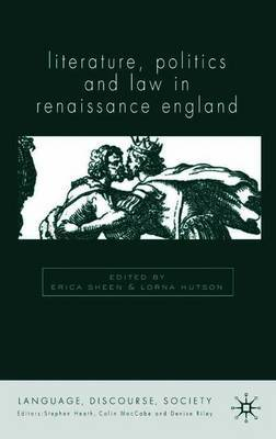 Literature, Politics and Law in Renaissance England image