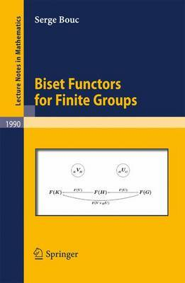 Biset Functors for Finite Groups by Serge Bouc