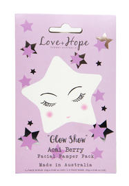 Love & Hope: Face Glow Show Pamper Pack (Acai Berry)