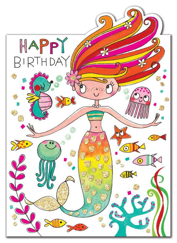 Rachel Ellen: Happy Birthday Mermaid Card
