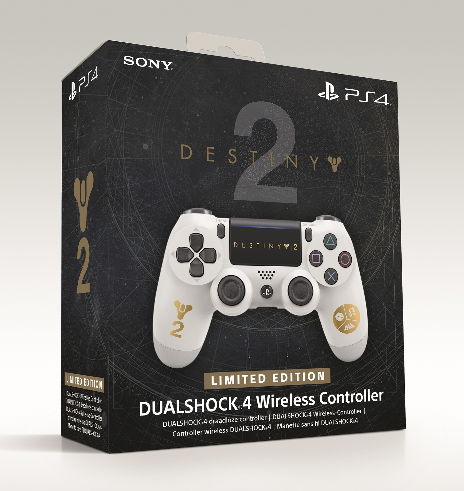 PS4 Destiny 2 Dual Shock 4 V2 Wireless Controller (Limited Edition) for PS4 image