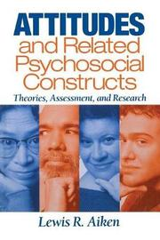 Attitudes and Related Psychosocial Constructs by Lewis R Aiken image