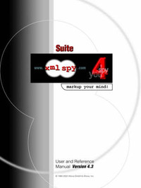 XML Spy 4.3 User and Reference Manual image