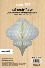 Paper Honeycomb Hanging Bauble - Snow White (Extremely Large)