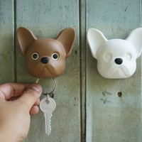 Qualy Frenchy Dog Key Holder