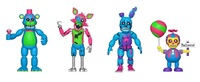 Five Nights at Freddy's: Black Light - Figure 4-Pack (#2)