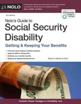 Nolo's Guide to Social Security Disability by David A Morton III