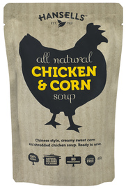 Hansells: All Natural Soup - Chicken & Corn (6 x 400g) image