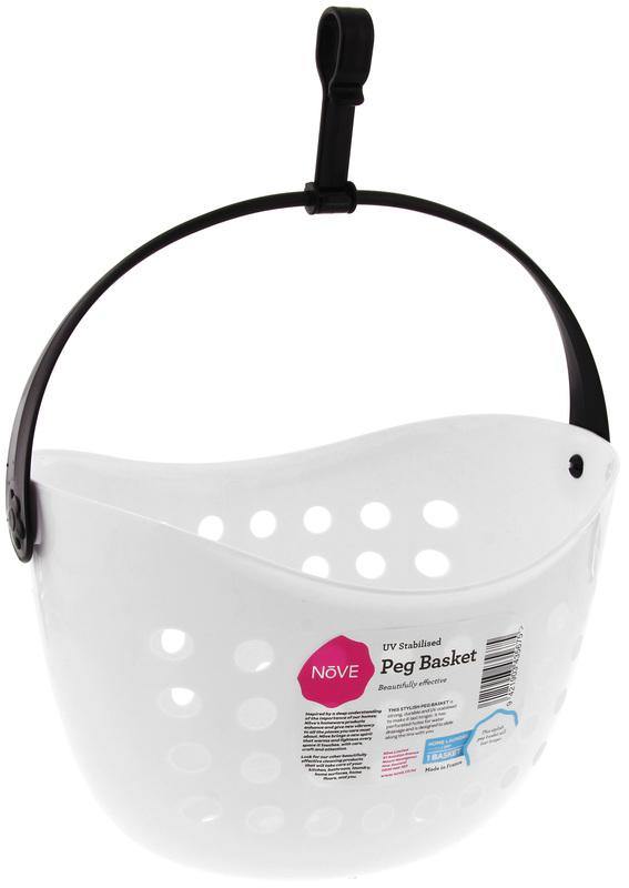 Nove Peg Basket - White