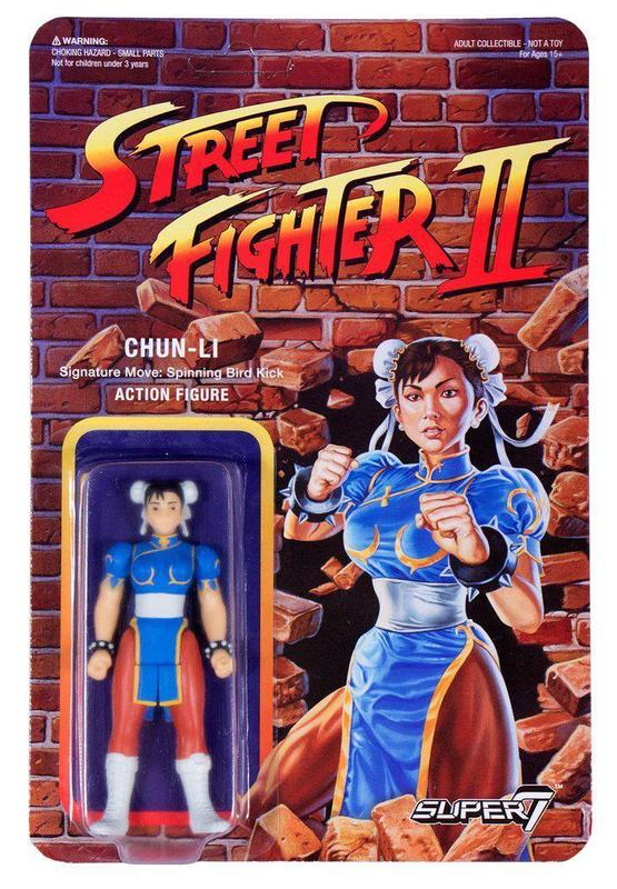 "Street Fighter II: Chun-Li - 3.75"" Retro Action Figure"