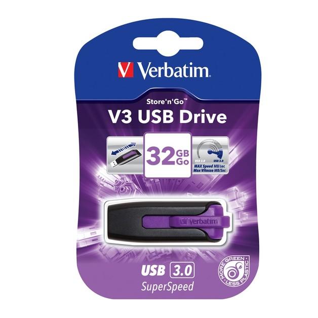 Verbatim Store'n'Go V3 USB 3.0 Drive - 32GB (Violet)