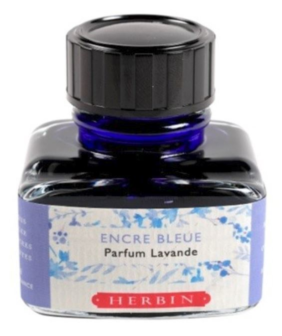 J Herbin: Scented Ink - Blue with Lavender Scent (30ml)