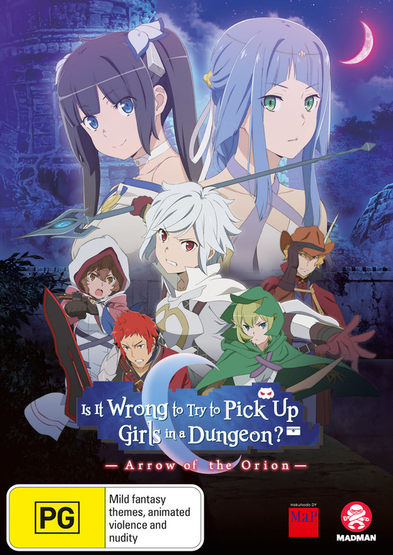 Is It Wrong To Try To Pick Up Girls In A Dungeon? Arrow of The Orion on DVD