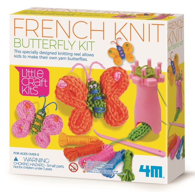 4M: Little Craft - French Knit Butterfly Kit