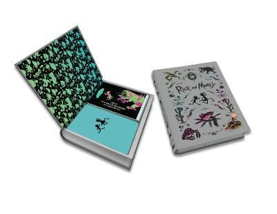 Rick and Morty Deluxe Note Card Set (With Keepsake Book Box) by Insight Editions image