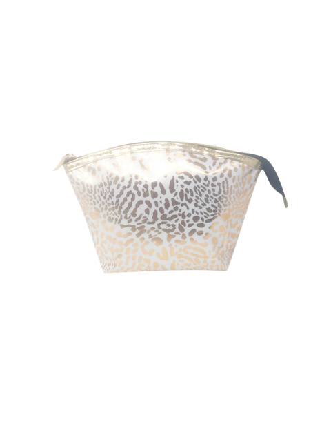 Mama Lulu: Hold-All Cosmetic Bag - White & Gold