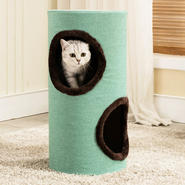 Cat Tower 1.3M - Green / Brown