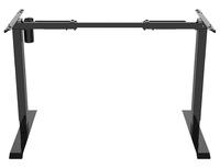 Gorilla Office: 2-Stage Motorised Height Adjustable Desk - Black/Oak (1400 x 700mm)