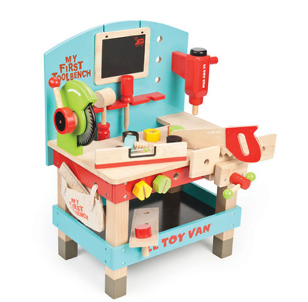 Le Toy Van Wooden Tool Bench Play Set Toy At Mighty