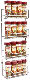 4 Tier Chrome Spice Rack