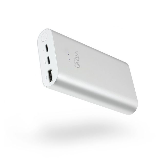 Alogic Vrova ELITE USB-C 10200mAh Portable Power Bank with Dual Output & Smart Charge - Silver