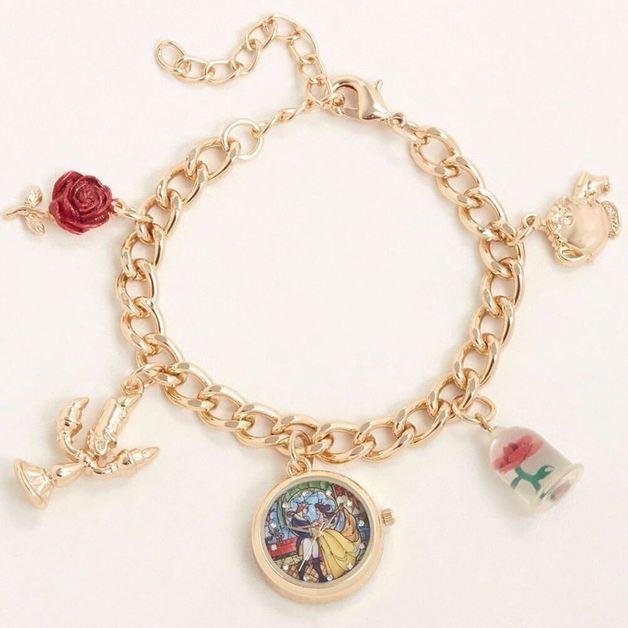 Beauty & the Beast - Watch Charm Bracelet